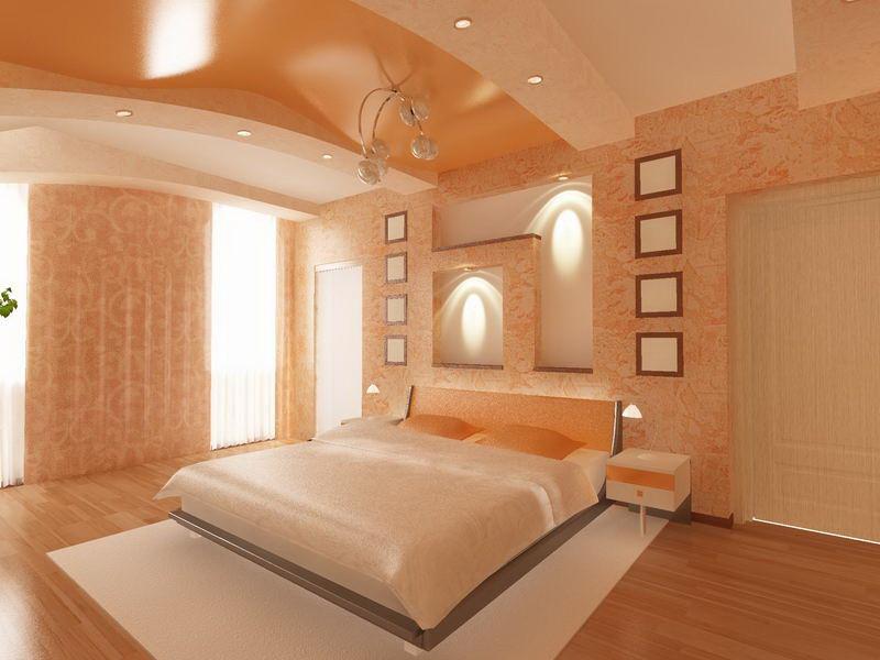 Как сделать натяжной потолок в спальни 579